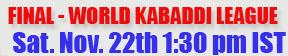 Live Kabaddi Schedule 2014