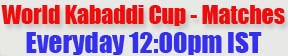 Kabaddi World Cup 2014 Schedule